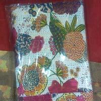 Kantha Fruit Printed Bed Sheet