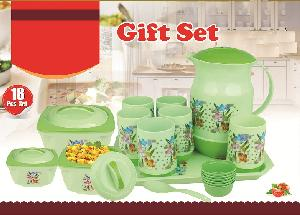Plastic 18 Pcs Dinnerware Set Kitchenware Hot Pot