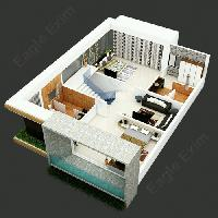 3d Architectural Site & Floor Rendering