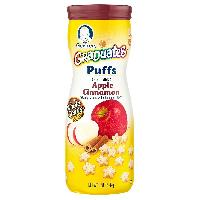 Gerber Graduates Puffs Cereal Snack Apple Cinnamon