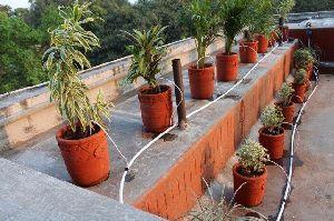 Drip Irrigation System In Kitchen Garden