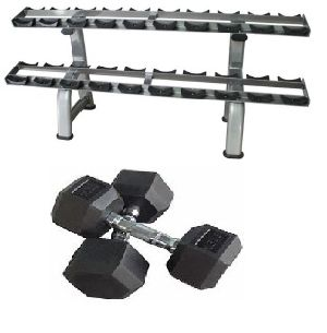Tier Rack And Dumbbell Set