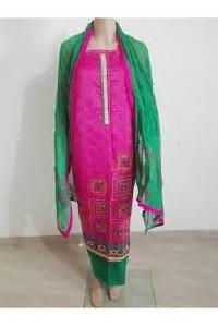 Unstitched Chanderi Suit