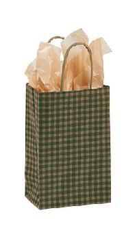 Gingham Paper Shopper