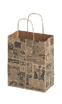 Newsprint Paper Shopping Bags