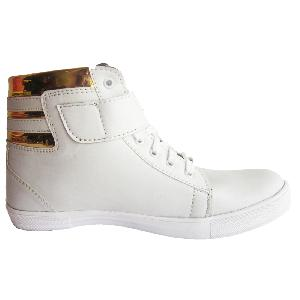 Sneakers (white & Golden)