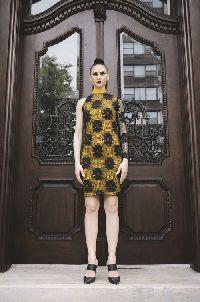 SHARON checkered mini dress