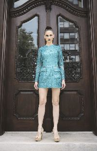 SOPHIA sea green sequin mini dress