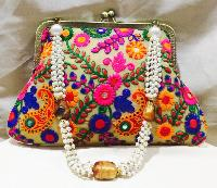 Ladies Designer Embroieded Clutches