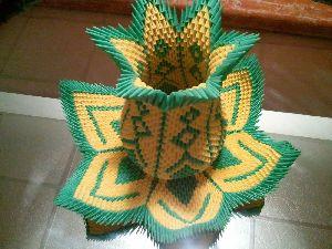 Origami Lotus Vases