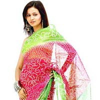 Cotton Bandhni Sarees