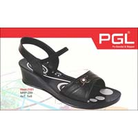 Ladies Pu Heel Sandals