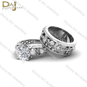 Diamond Couple Ring Set