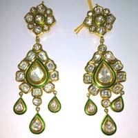 Diamond Polki Earrings
