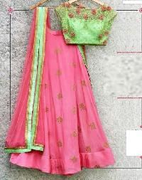 Embroidered Silk Lehenga