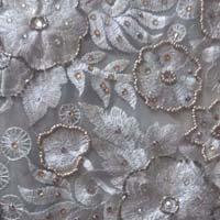hand worked silk fabrics