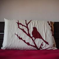Applique Forest Pillow Cover