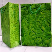 Green Handmade Paper Bags