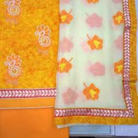Embroidered Unstitched Cotton Suits