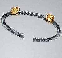 Two-station Citrine Noblesse Bangle