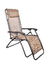 Pure Brown Folding Recliner Chair