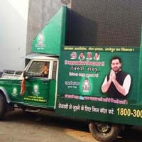 Low cost LED video van for election campaigning in all over india