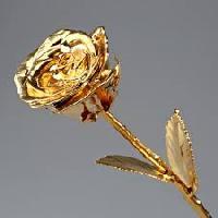 Real Natural Rose Dipped In Real 24k Gold
