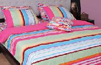 Polyester Sarees & Cotton Bed Sheet From Surat, Gujarat, Ind