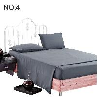 cotton satin bed sheet and fitted set