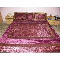 poly silk bed cover