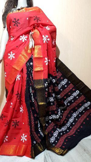 Handloom Hand Batik Sarees