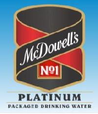 MCDOWELL'S NO.1 PLATINUM PACKAGE DRINKING WATER 1 LITER