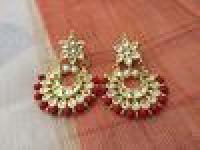 Red Kundan Earring