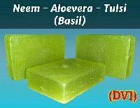 Neem-Aloevera-Tulsi(Basil) (DV1) Transperant Soap