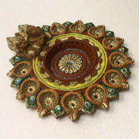 Decorative Rangoli Diyas