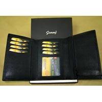 Leather Tri-folder Wallet