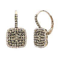 White Diamond Pave Earrings