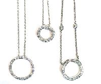 Eternity Circle Diamond Pendants
