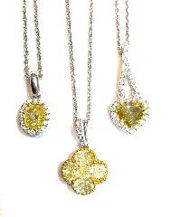 Fancy Yellow Diamond Pendants