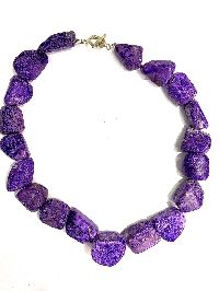 Violet Sugalite Bead Necklace