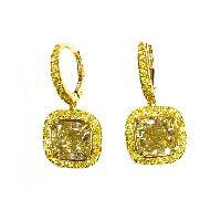 yellow diamonds in yellow diamond pave