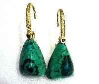 Natural garnet cluster earrings