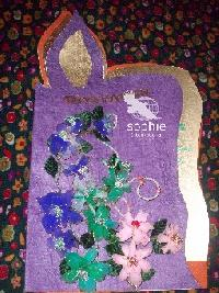 Stocking Flower Greeting Cards