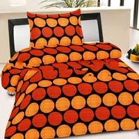 Blue Polka Dot Printed Single Bed Blanket