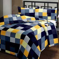 Checked Printed Cotton Ac Single Bed Blanket