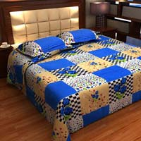 Factorywala Premium Cotton Floral Print  Double Bed Sheet