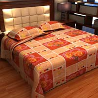 Factorywala Premium Cotton Floral Print Red Colour Double Bed Sheet