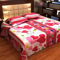 Factorywala Premium Cotton Print Double Bed Sheet With 2 Pillow Covers