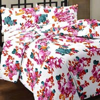 Floral Printed Cotton Pink Ac Single Bed Mini Blanket