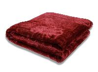Mink Single Bed Floral Embossed Maroon Blanket